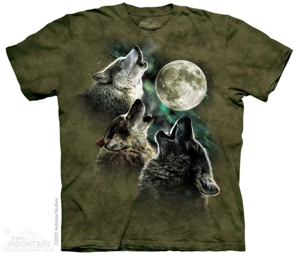 Футболка The Mountain, Three Wolf Moon in Olive