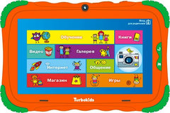 "Планшет Turbo TurboKids S5 Cortex A7/RAM1Gb/ROM16/7""/WiFi/BT/2Mpix/0.3Mpix/Android 7.1/оранжевый"